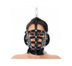 Sexy Shop Online I Trasgressivi - Maschera BDSM - Museruola Con Anello Pendente In Alto - Rimba