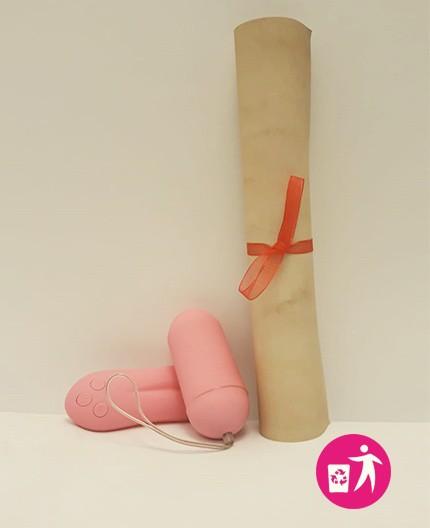 """Sexy Shop Online Itrasgressivi - Sex Toy RottAmato Non Funzionante - """"Ex"""" Pleasure Shiver 2.0 Large Rosa - Toyz4Lovers"""