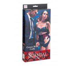 Sexy Shop Online I Trasgressivi - Costrittivo - Corsetto Con Polsiere Nero E Rosso - California Exotic Novelties
