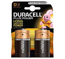Sexy Shop Online I Trasgressivi - Batteria Per Sex Toys - Plus Power 1.5 V / D2 / LR20 - Duracell