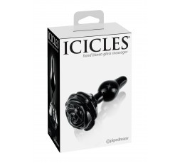 Sexy Shop Online I Trasgressivi - Plug Anale In Vetro - Icicles N. 77 Black - Pipedream