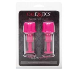 Pompe Non Vibranti Per Capezzoli -Vacuum Twist Suckers Pink - California Exotics