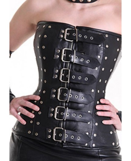 Corsetto in Pelle con Borchie