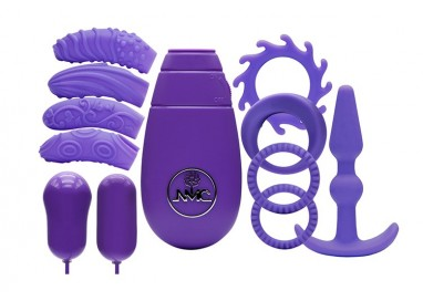 Kit e Set Vibrante - Flirty Kit Set Purple - NMC