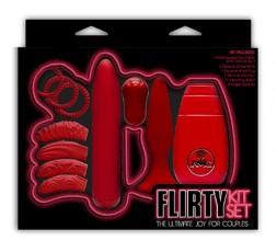 sexy shop online i trasgressivi Kit Vibrante - Flirty Kit Set Red - NMC