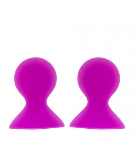 Sexy Shop Online I Trasgressivi Pompe Per Capezzoli Fucsia - Nipple Suckers Large - Lit Up