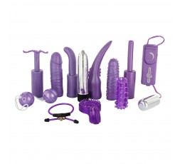 sexy shop online i trasgressivi Kit Vibrante - Dirty Dozen Sex Toy Kit Purple - Seven Creations