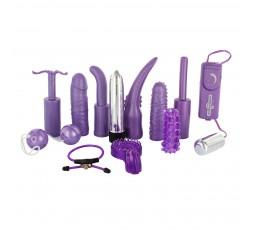 sexy shop online i trasgressivi Kit Vibrante - Dirty Dozen Sex Toy Kit Purple - Seven Creations