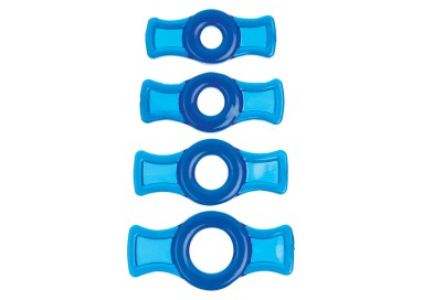Kit e Set - TitanMen Cock Ring Set Blue - Doc Johnson