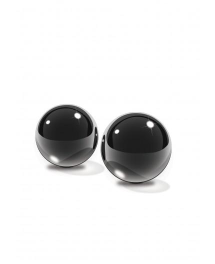 sexy shop online i trasgressivi Palline Vaginali - Glass Ben-Wa Balls - Small Black - Pipedream