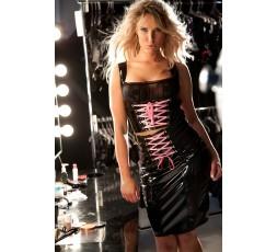 Sexy Shop Online I Trasgressivi Top in Vinile con Nastro Rosa - Allure