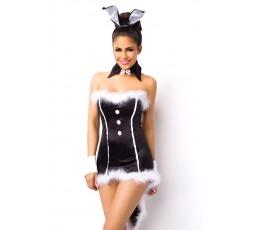 Sexy Shop Online I Trasgressivi - Carnevale Donna - Costume Da Coniglietta Sexy Con Piume Bianche - Bunny Costume