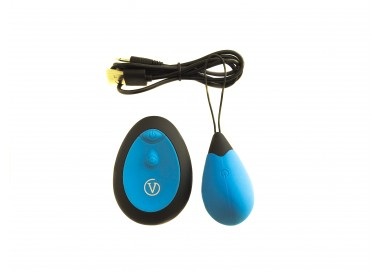 Ovulo Vibrante Wireless - Remote Control Egg Ricaricabile G1 Azzurro - Virgite