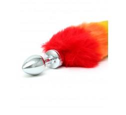 Sexy Shop Online I Trasgressivi - Plug Con Coda - Butt Plug Small With Rainbow Tail - Rimba