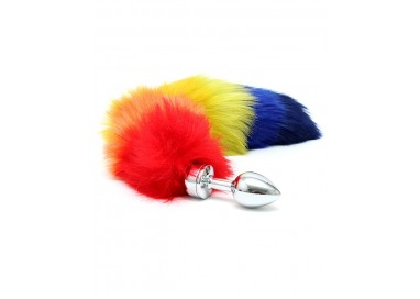 Sexy Shop Online I Trasgressivi - Plug Con Coda - Butt Plug Small With Rainbow Tail - Rimba