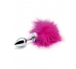 Sexy Shop Online I Trasgressivi - Plug Con Coda - Butt Plug Small With Pink Feather - Rimba
