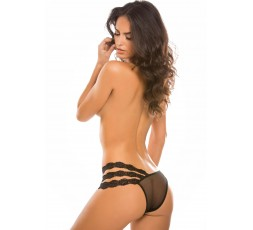 sexy shop online i Trasgressivi Sexy Lingerie - Wild Orchid Panty Black - Allure