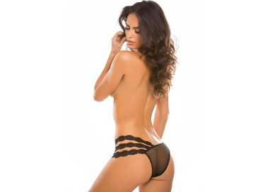 Sexy Lingerie - Wild Orchid Panty Black - Allure