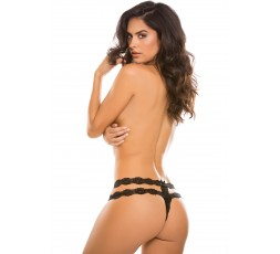 Sexy Shop Online I Trasgressivi - Sexy Lingerie - Crotchless Rhapsody Panty Black - Allure