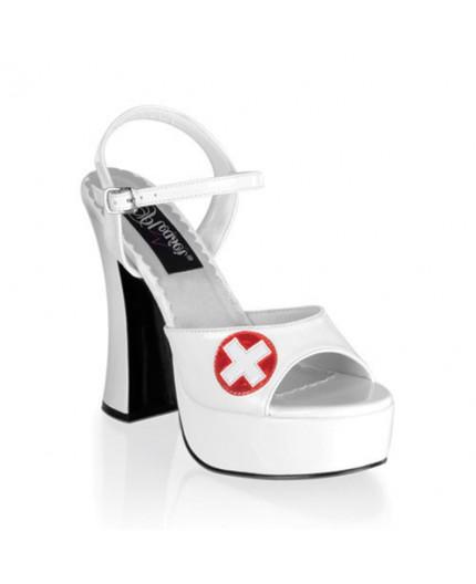 Sexy Shop Online I Trasgressivi - Scarpa e Stivale Da Infermiera - Sandalo Dolly 10 da Infermiera - Pleaser