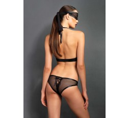 Sexy Shop Online I Trasgressivi - Sexy Lingerie - Crotchless Teddy & Eye Mask Black - Leg Avenue