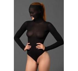 Sexy Shop Online I Trasgressivi - Sexy Lingerie - Masked Teddy Beaded G String Black - Leg Avenue