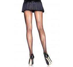 sexy shop online i trasgressivi Calze E Collant - Backseam Sheer Pantyhose Black - Leg Avenue