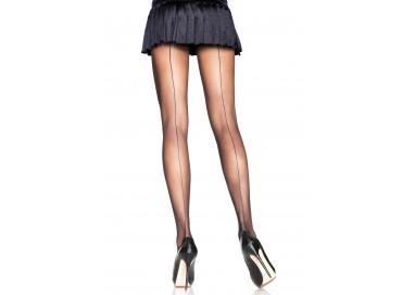 Calze & Collant - Backseam Sheer Pantyhose Black - Leg Avenue