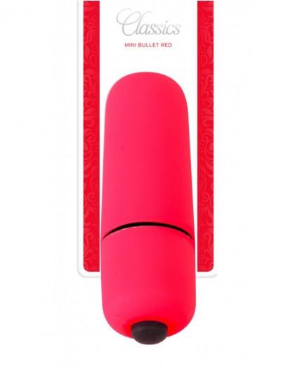 Sexy Shop Online I Trasgressivi - Stimolatore Clitoride - Mini Vibratore Bullet Classic Red - Toyz4Lovers