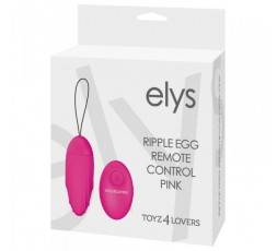 sexy shop online i trasgressivi Ovulo Vibrante Wireless - Elys Ripple Egg Remote Control Pink - Toyz4Lovers
