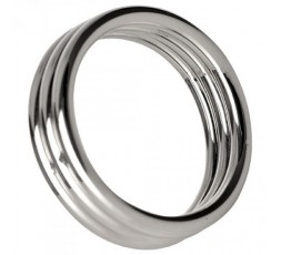 sexy shop online i trasgressivi Anello Fallico - Echo 2 Inch Steel Triple Cock Ring - Play Hard