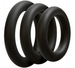 Sexy Shop Online I Trasgressivi - Kit e Set - Optimale 3 C Ring Set Thick Black - Doc Johnson