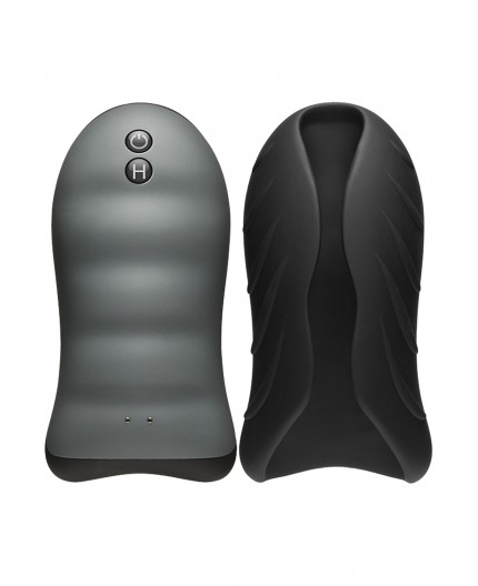Sexy Shop Online I Trasgressivi - Masturbatore Vibrante Design - Heating Stroker Vibrating Black - Doc Johnson