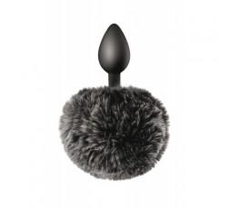 Sexy Shop Online I Trasgressivi - Plug in silicone con pon pon nero - Sweet Caress