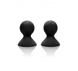 Sexy Shop Online I Trasgressivi - Pompe Per Capezzoli - Silicone Pro Nipple Suckers Black - California Exotic Novelties