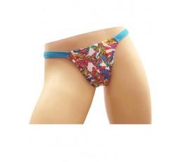 sexy shop online i trasgressivi Slip Calcinha Celeste Stampa Farfalle Multicolore - Ivete Pessoa