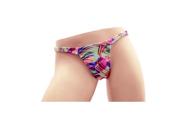 Slip Transgender By Ivete Pessoa - Calcinha Multicolore Verde Rosa e Fucsia - Ivete Pessoa