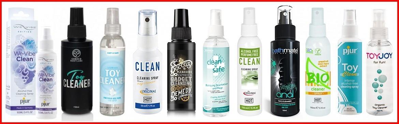 Prodotti per mantenere i vostri sex toys puliti e igienizzati